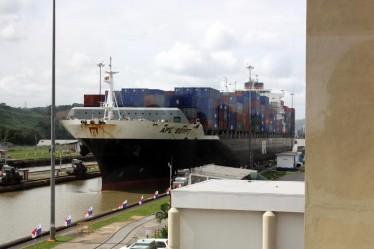 a ship through the canal