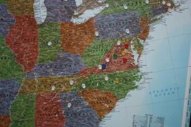 mid-Atlantic region cities I have traveled to
