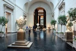 sculpture hallway at the NGA