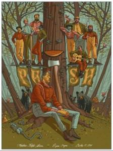 Eugene, OR concert poster